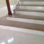 Indoor porcelain tile flooring in Jamaican home