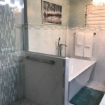 White bathroom wall tiles mosaic glass border Jamaica