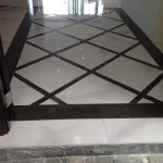 black and white floor tile in Jamaica entryway
