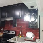 ceramic red wall tile kitchen backsplash in Jamaica