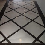 diamond pattern black and white floor tile in Jamaica