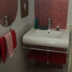 red mosaic powder room Jamaica