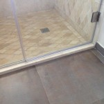 travertine tile shower wall Jamaica bathroom