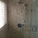travertine tile shower wall Jamaica home