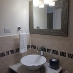white 3d tiles and mosaic bathroom in Jamaica Creative Building Finishes