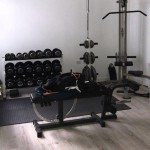 Vinyl tiled Gym room