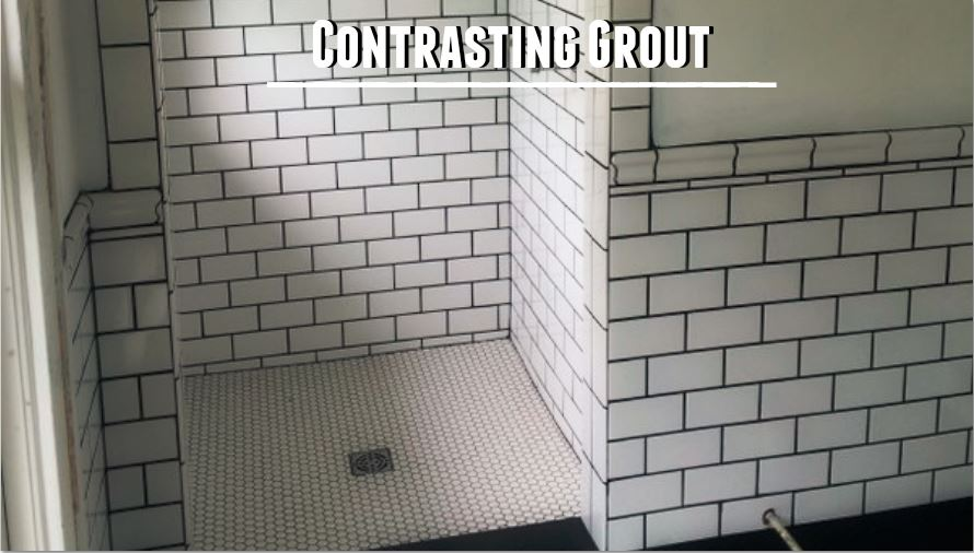 contrast of grout