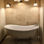 travertine pebble bathroom tiles in Jamaica 1
