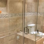 travertine pebble bathroom tiles in Jamaica 2