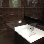 brown ceramic wall tiles Jamaica Creative Building Finishes bathroom