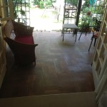 flooring ceramic tile Jamaica rust look porch