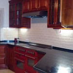 Subway backsplash tiles in Jamaican Kitchen