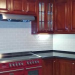 Subway backsplash tiles in Jamaica Kitchen