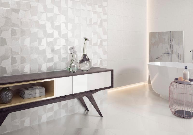 Newker cubic white tile