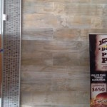 wood look and mosaic tiles commercial project