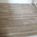 wood look tiles commercial project
