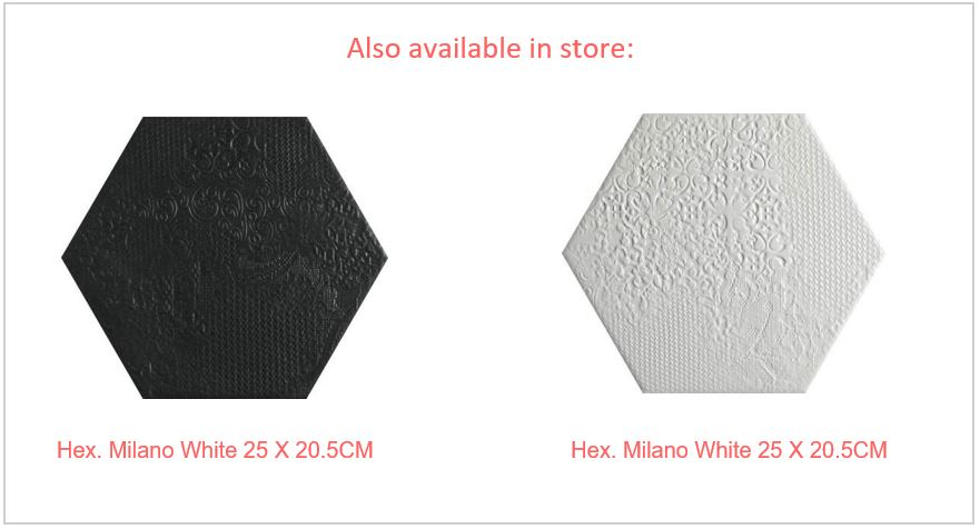 Hex Black and white in-store