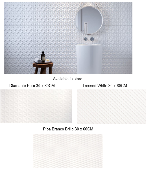 pattern white Diamante tiles