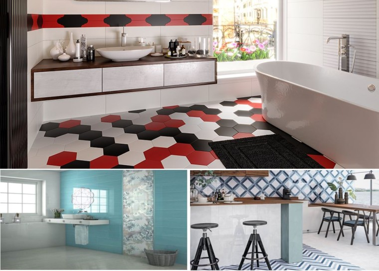wake up walls with color tiles