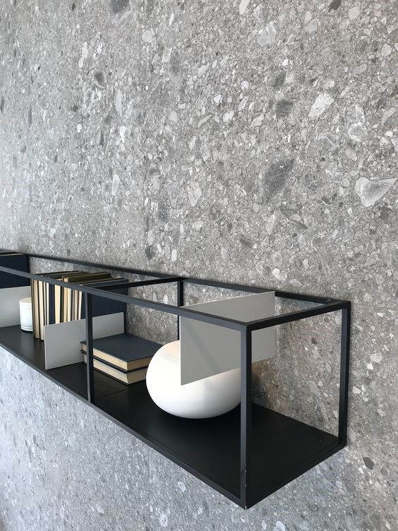 Wall light Grey Terrazzo tile