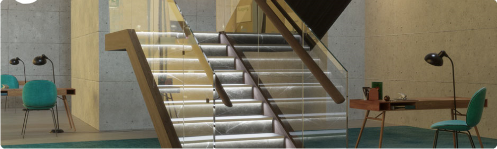LED Trim staircase